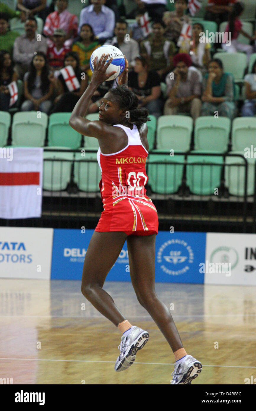 Netball bronze medal match, England vs Jamaica Commonwealth Games - Stock Image