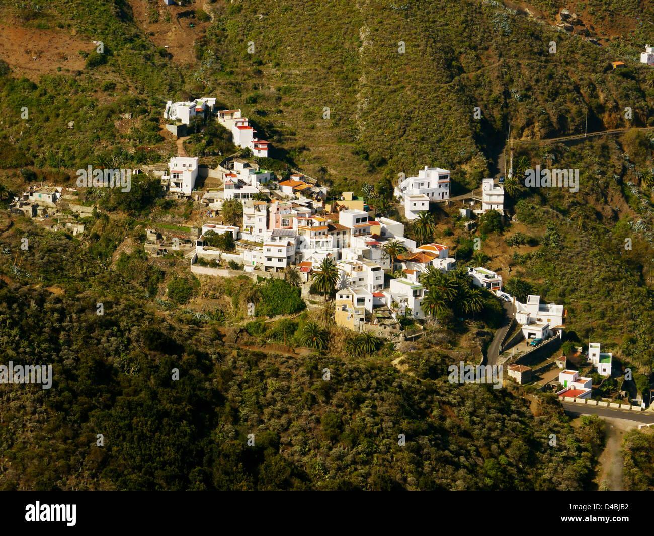 Village of Taganana, Tenerife, Canary Islands, Spain - Stock Image