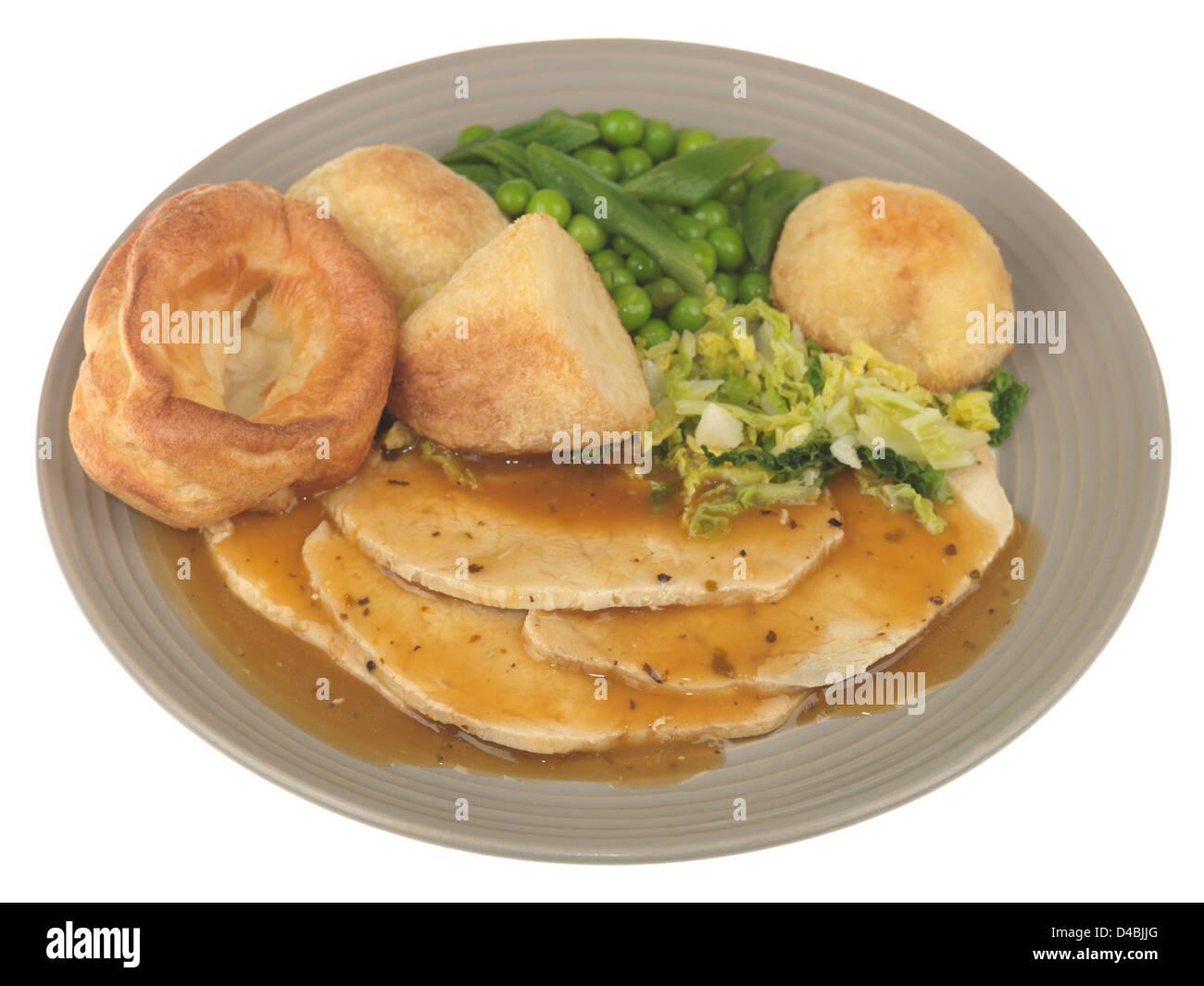Roast Pork with Vegetables Stock Photo