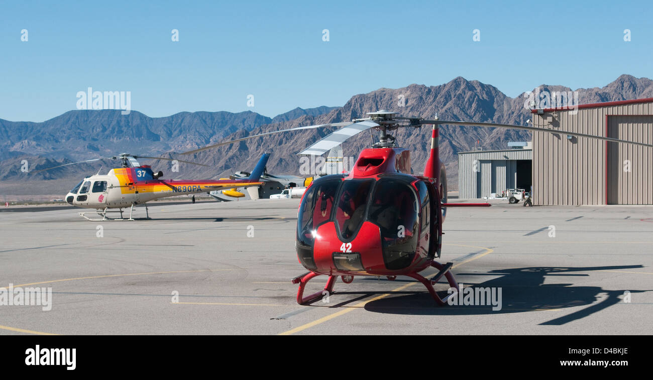 Helicopter Rides Grand Canyon - Stock Image
