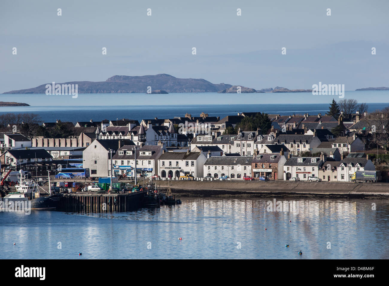 Ullapool town on Loch Broom in the Highlands of Scotland. - Stock Image