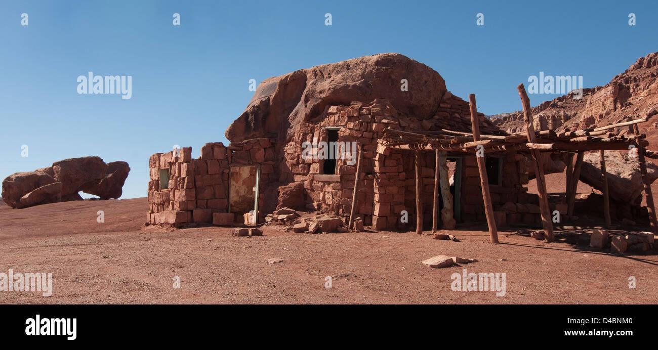 Abandoned Cliff Dwellers House, Marble Canyon, Arizona, USA - Stock Image