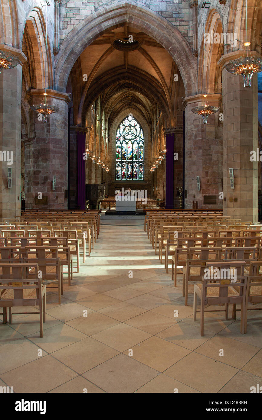 St Giles Cathedral, The Royal Mile, Edinburgh, Lothian - Stock Image