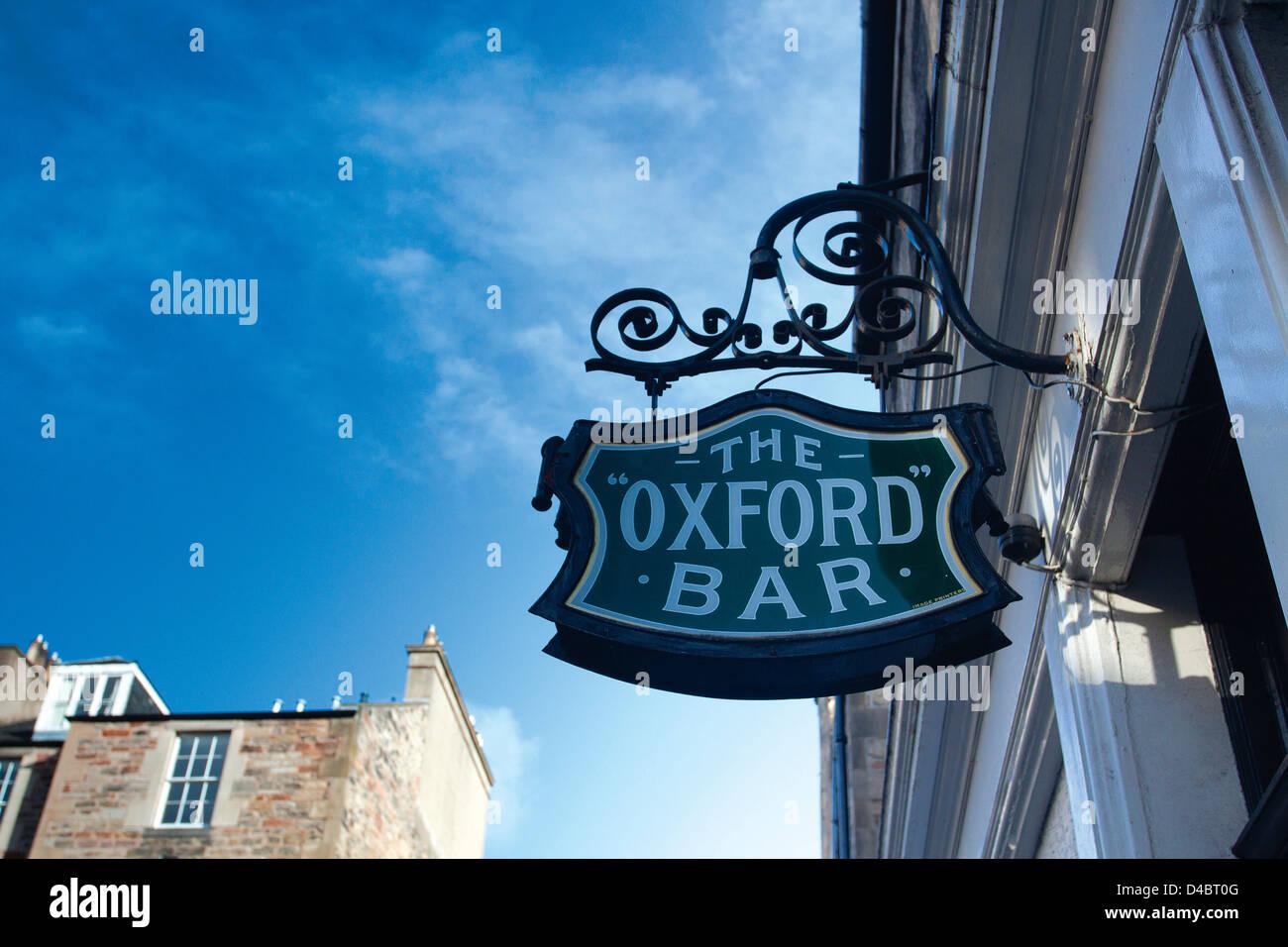 The Oxford Bar, Edinburgh, Lothian - Stock Image