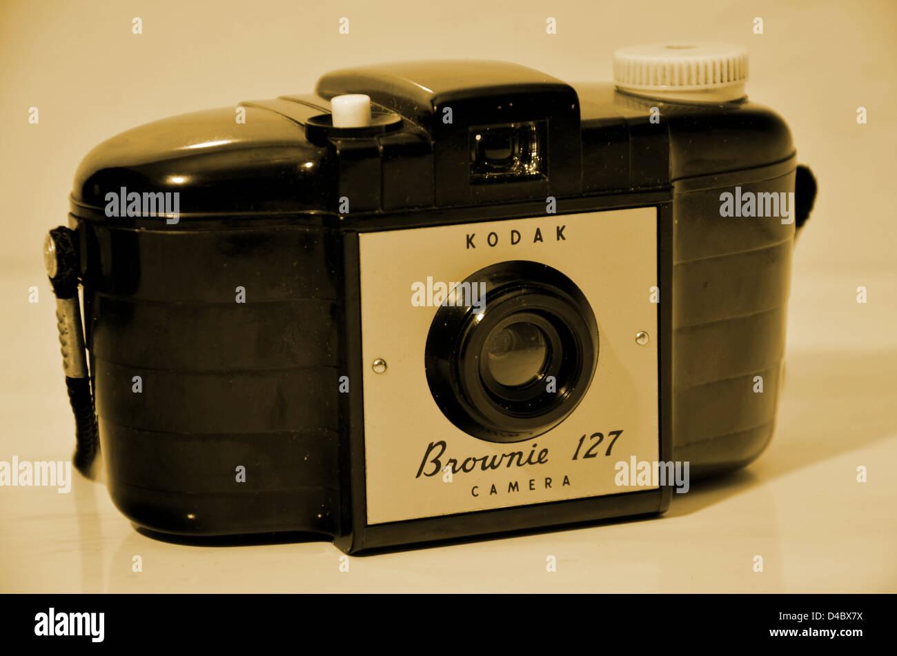 Vintage Brownie - Stock Image