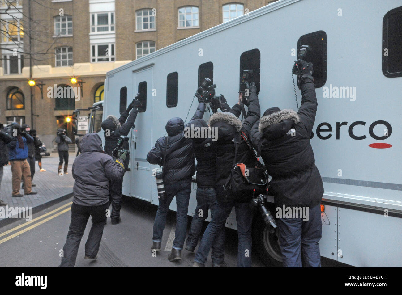 London, UK. 11th March 2013. Chris Huhne leaves Southwark Crown Court after sentencing. Credit:  JOHNNY ARMSTEAD - Stock Image