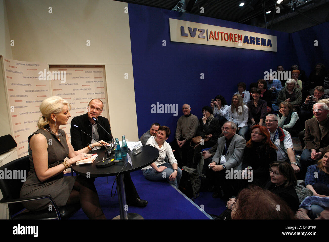 Leipzig, Germany, the authors LVZ-Arena at the Leipzig Book Fair - Stock Image