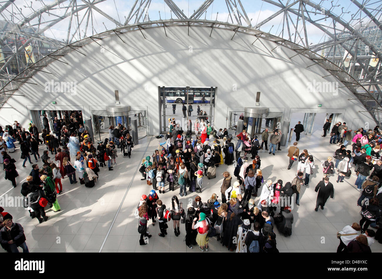 Leipzig, Germany, an exhibition hall during the Leipzig Book Fair - Stock Image
