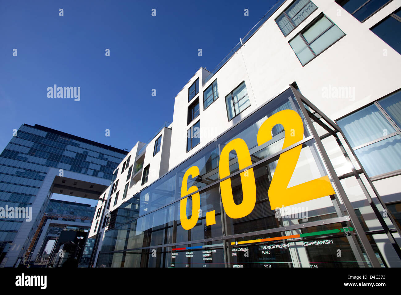 Koeln, Germany, office building on Anna Schneider Steig Rheinauhafen - Stock Image