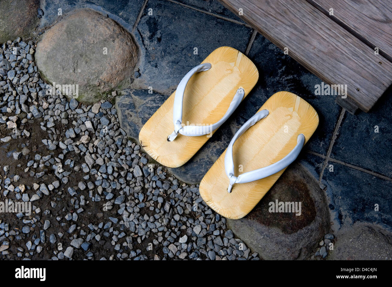 ebcfbadb335 A pair of monk s  zori  (sandals) that one must remove prior to