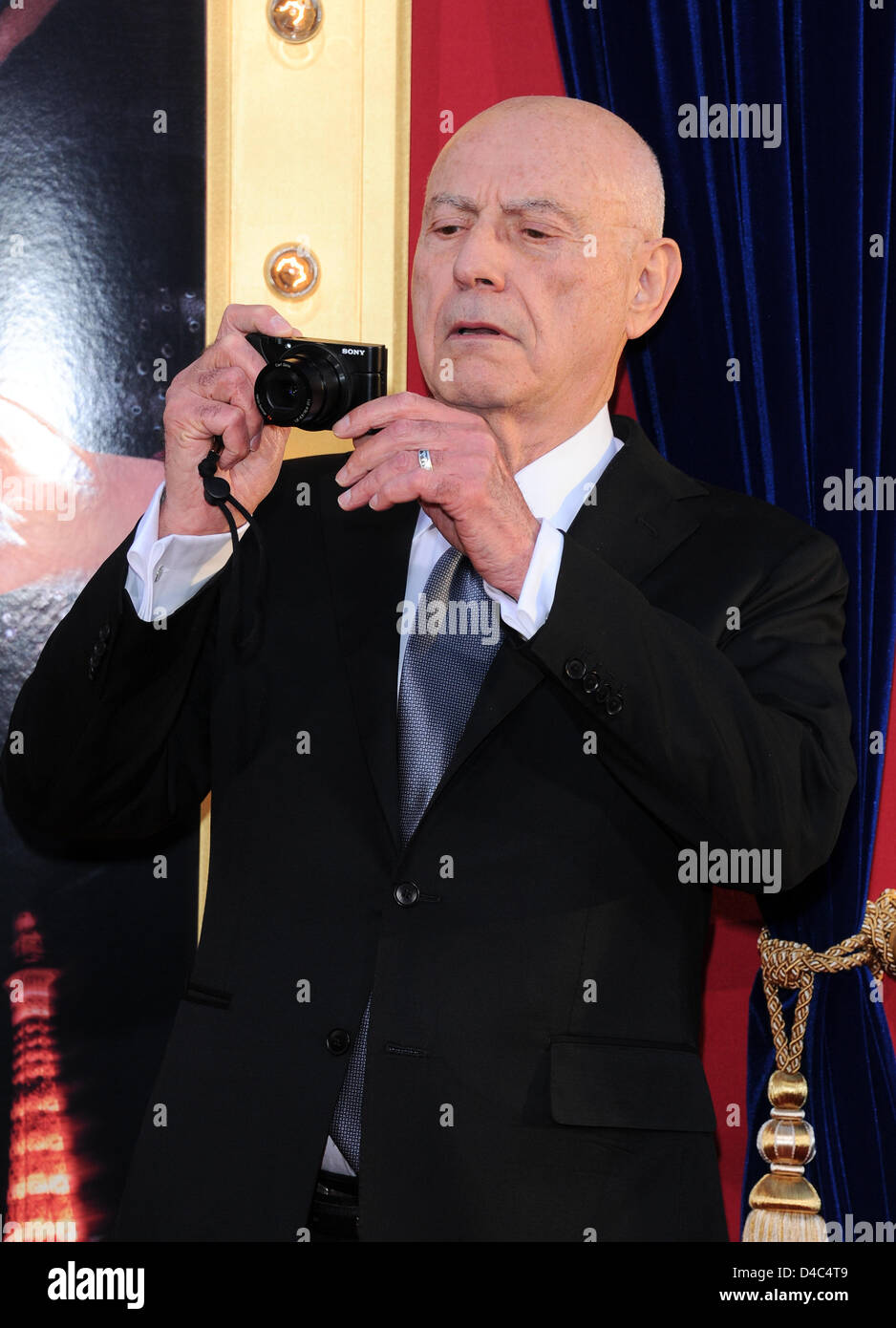 Los Angeles, USA. 11th March 2013. Alan Arkin arrives at the film premiere for The Incredible Burt Wonderstone at - Stock Image