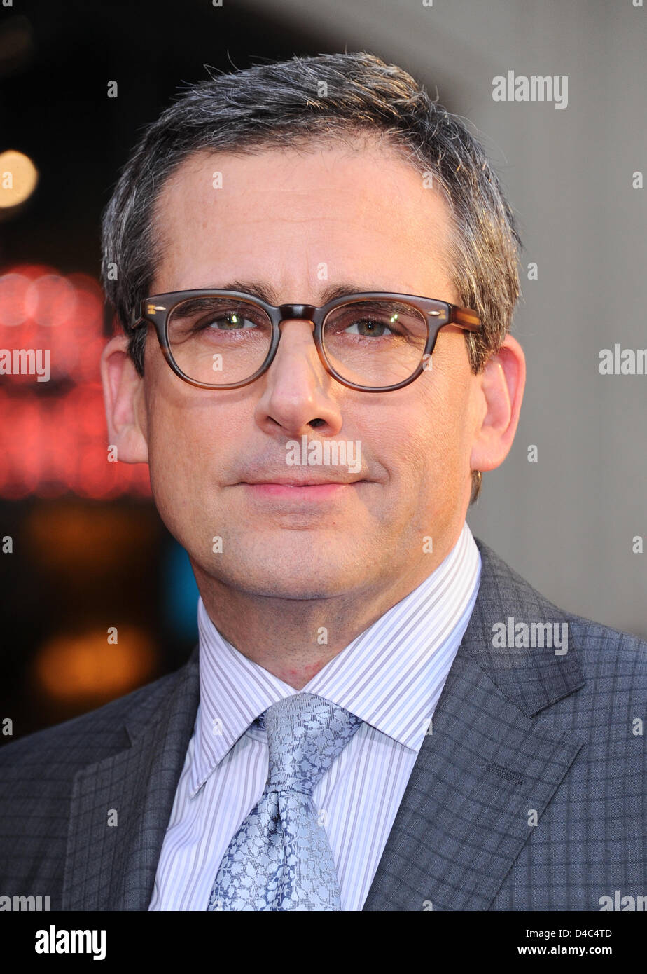 Los Angeles, USA. 11th March 2013. Steve Carell arrives at the film premiere for The Incredible Burt Wonderstone - Stock Image