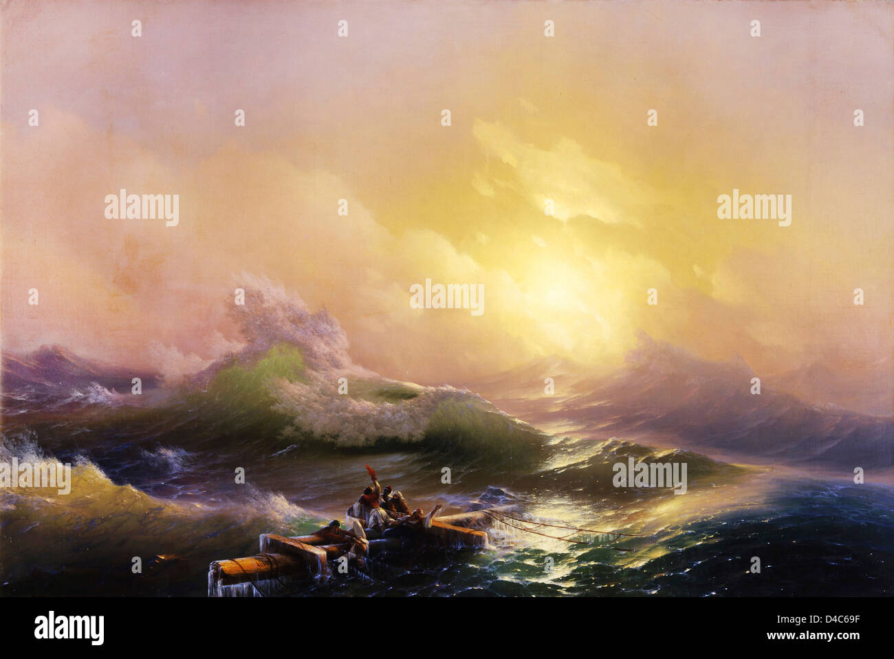 Ivan Aivazovsky, The Ninth Wave 1850 Oil on canvas. State Russian Museum, Saint Petersburg, Russia - Stock Image