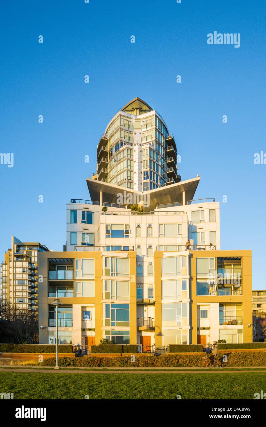 Condominium, Yaletown, Vancouver, British Columbia, Canada - Stock Image