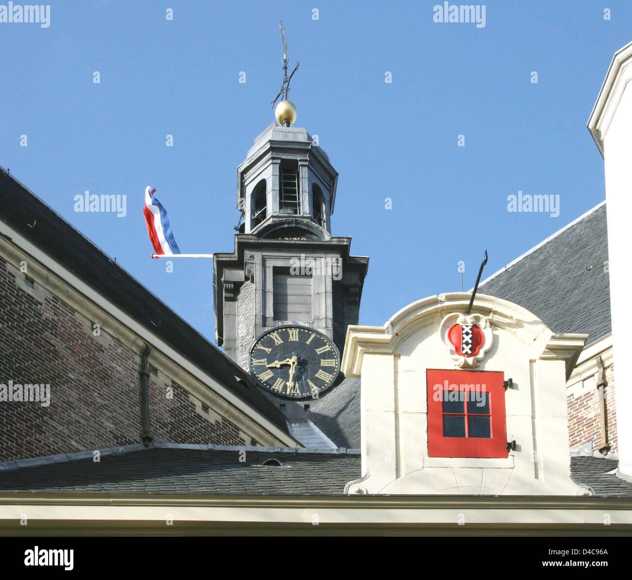 The Netherlands Holland Amsterdam Noorderkerk Church 1623 Architect Hendrick de Keyser Prinsengracht Noordermarkt - Stock Image