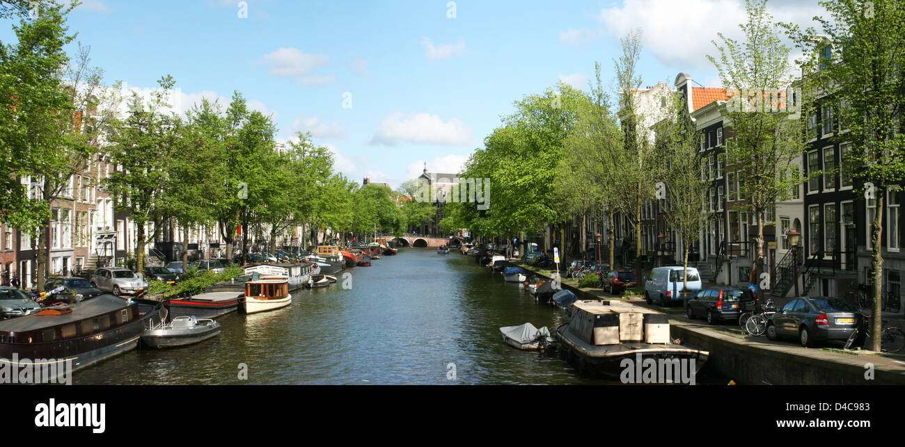The Netherlands Holland Amsterdam Prinsengracht Canal District - Stock Image