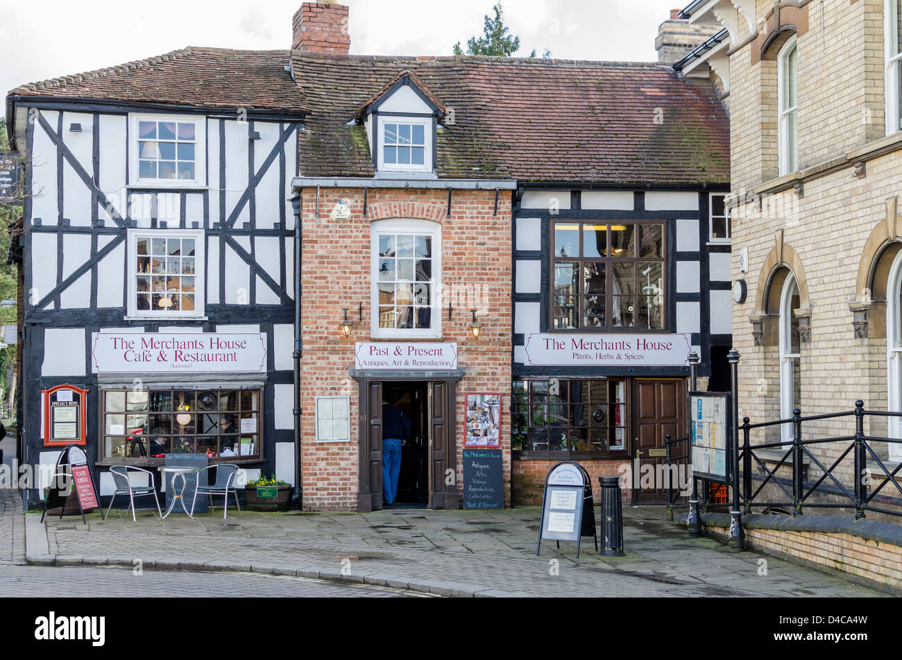 The Merchants House Cafe and Restaurant in Leominster, Herefordshire - Stock Image