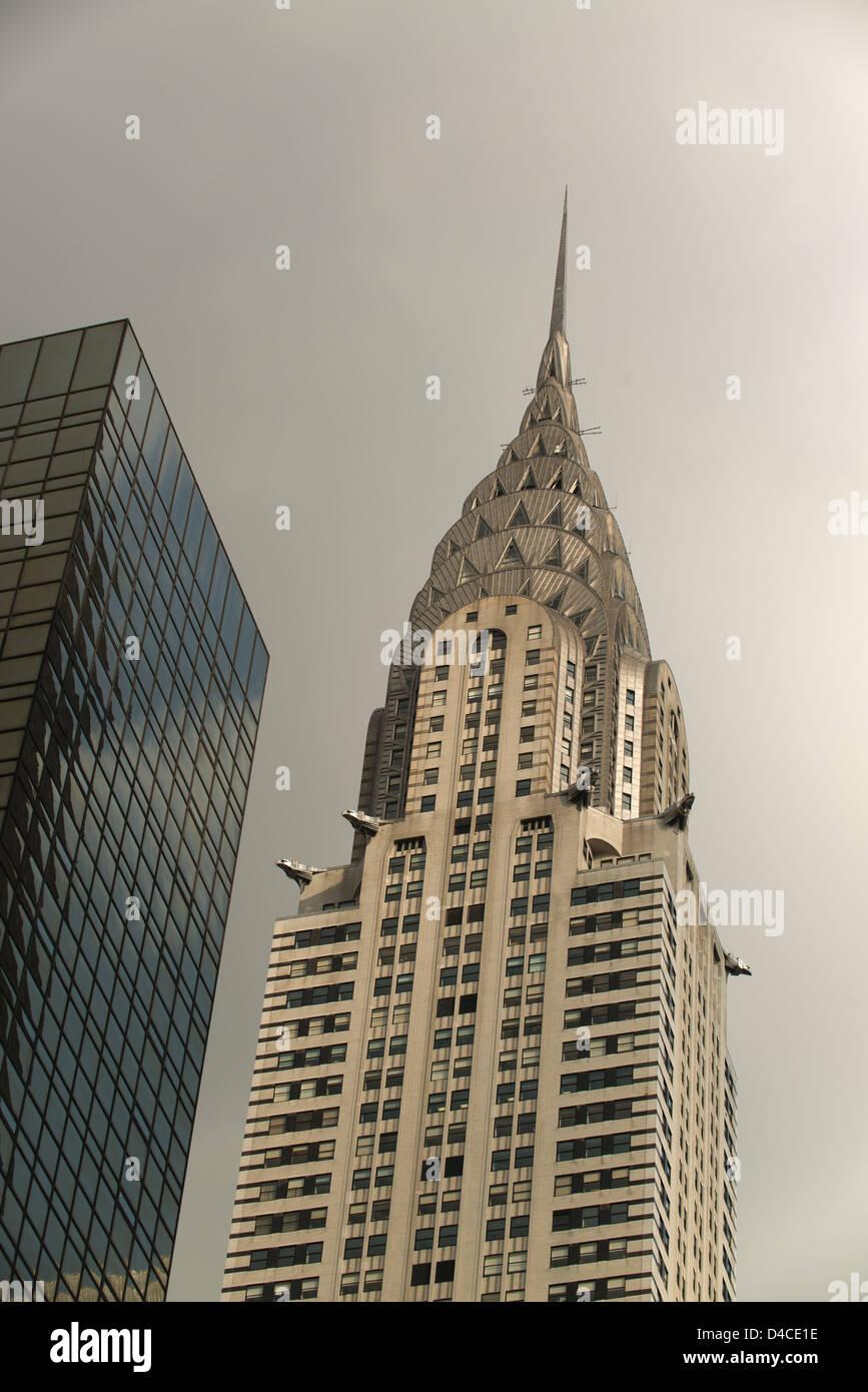 Chrysler Building on overcast day. - Stock Image