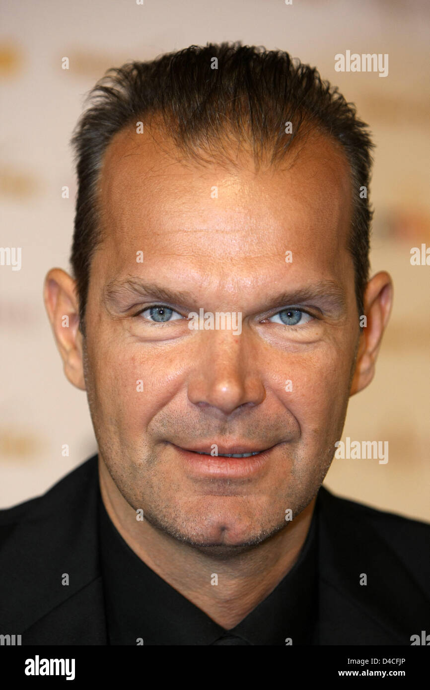 Ralf Klemmer, organisor of the 'Miss Germany 2008' contest smiles at a press conference at Europa-Park in - Stock Image