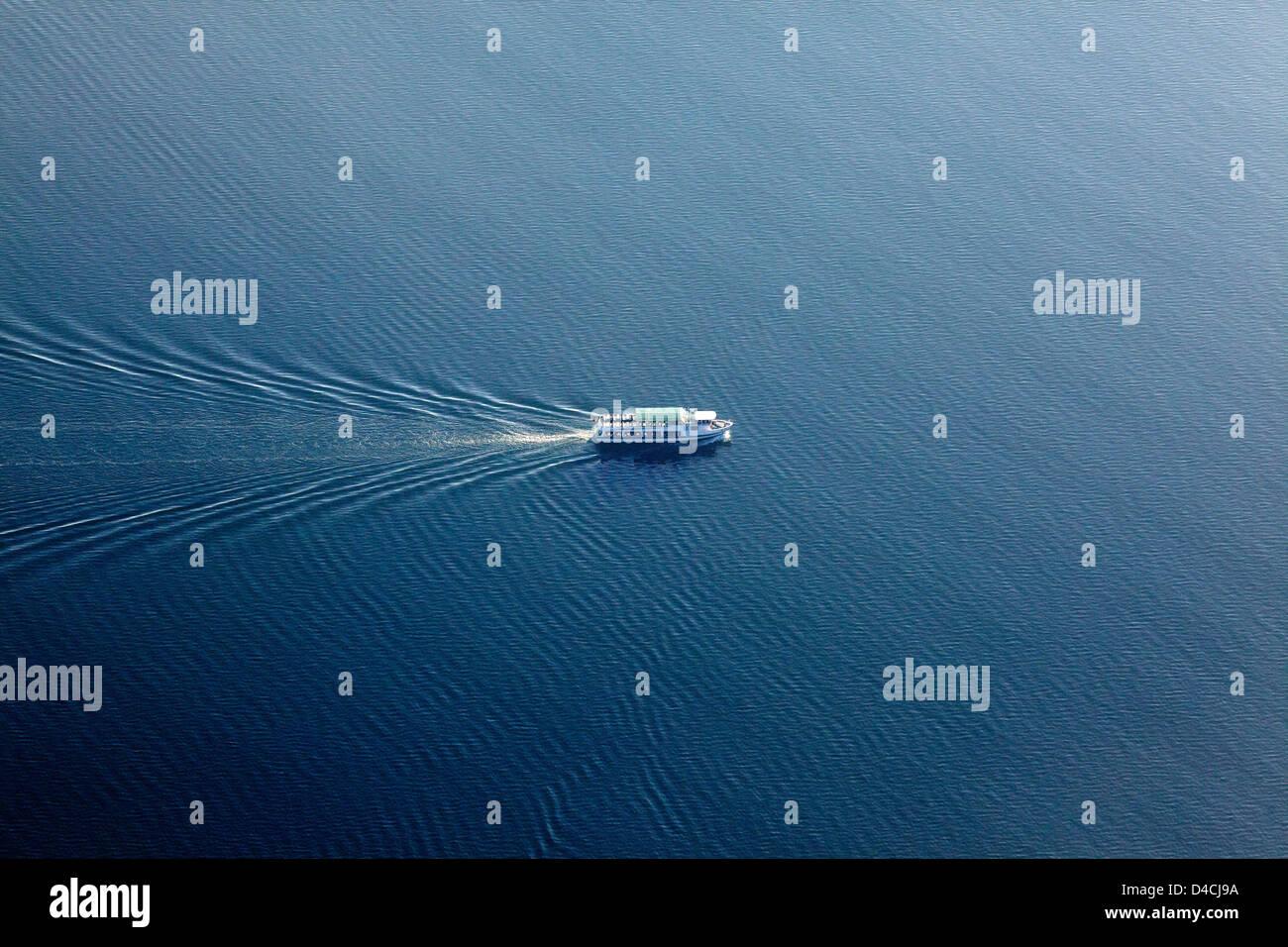 Passenger ship on Bodensee, Konstanz, Baden-Wuerttemberg, Germany, Europe - Stock Image