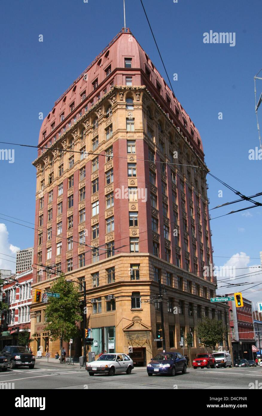 The picture shows the Dominion Building in the Gastown district in Vancouver, Canada, 07 September 2007. The Dominion - Stock Image