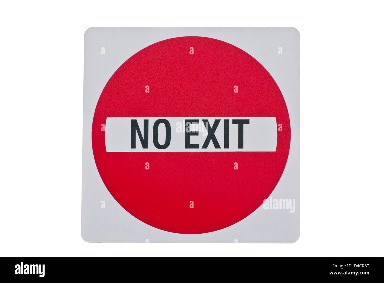 No Exit Sign - Stock Image