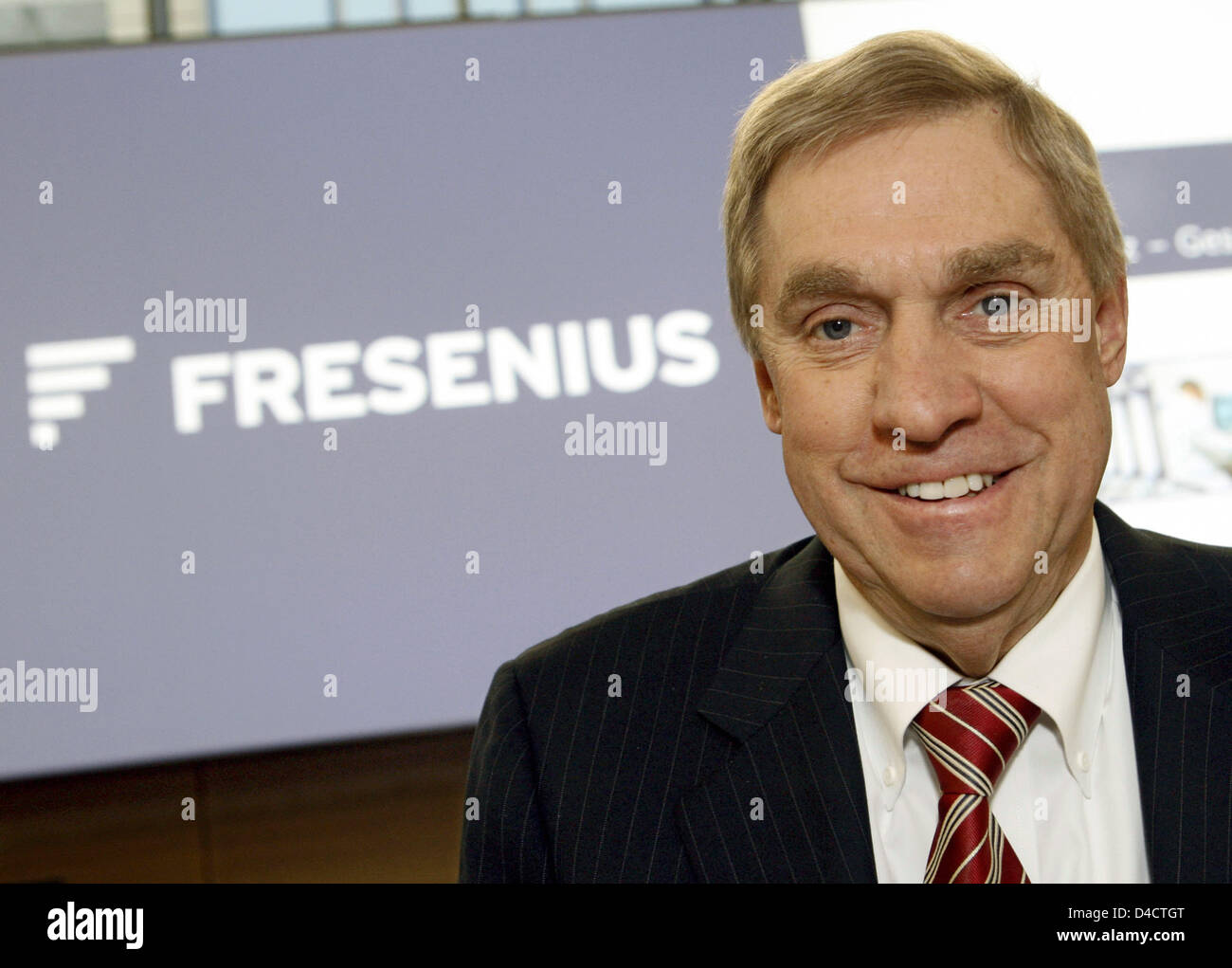 The CEO of Fresenius Medical Care Ben Lipps is pictured at the balance press conference at the Fresenius headquarters - Stock Image