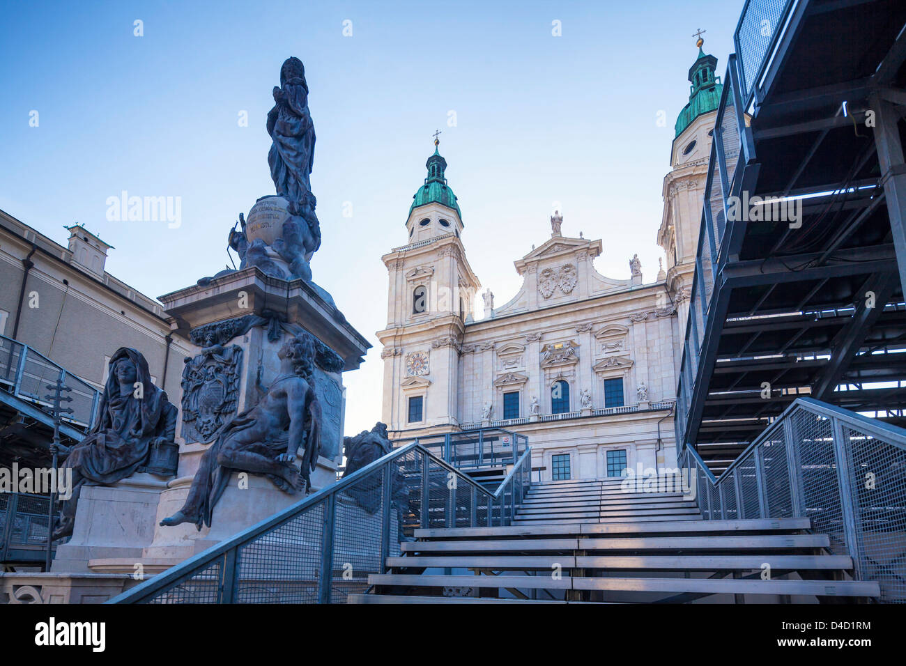 Stage at the Dome square during the Salzburg Festival, Austria - Stock Image