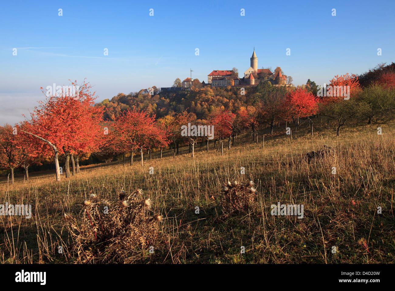 Leuchtenburg, Seitenroda, Thuringia, Germany, Europe - Stock Image