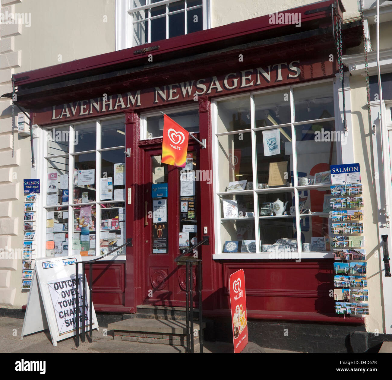 Traditional newsagents shop in Lavenham, Suffolk, England - Stock Image