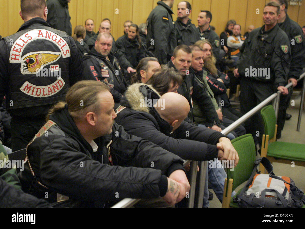 Members of motorcycle clubs 'Hells Angels' and 'Bandidos