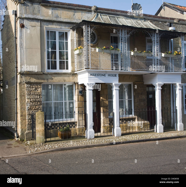 Historic Milestone House, Yoxford, Suffolk, England - Stock Image