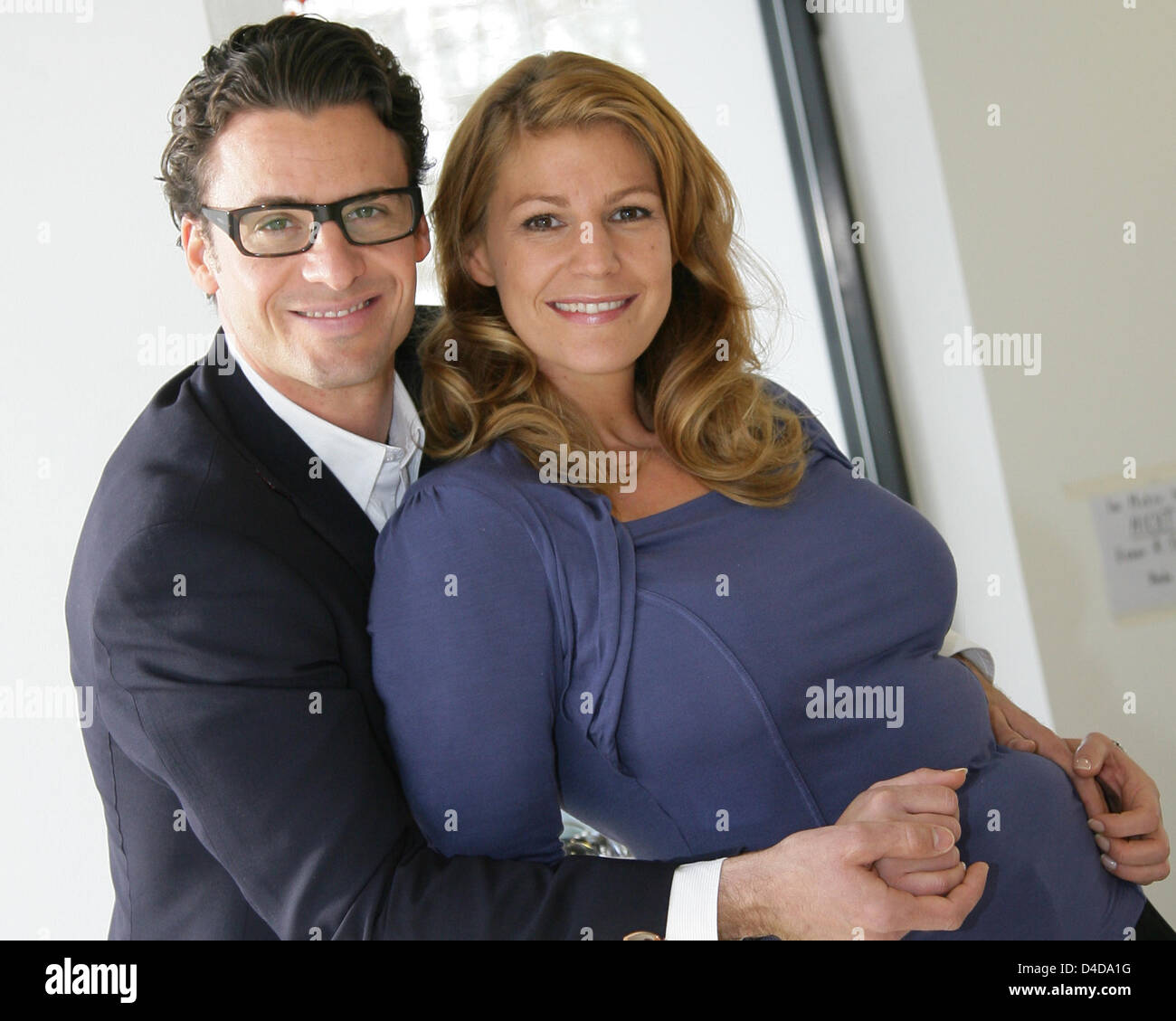 actor stephan luca l and actress sophie schuett pose for a photo stock photo 54382988 alamy
