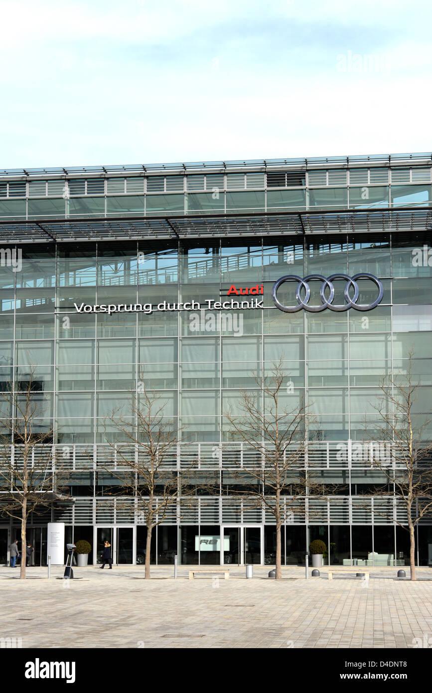 Audi factory at Ingolstadt in Bavaria - Stock Image