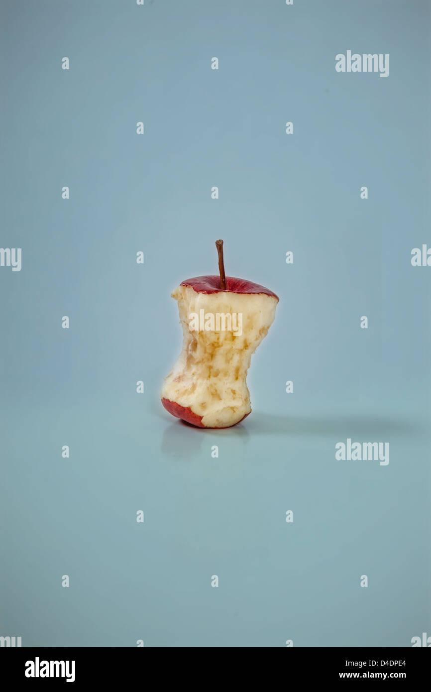 an eaten apple - Stock Image