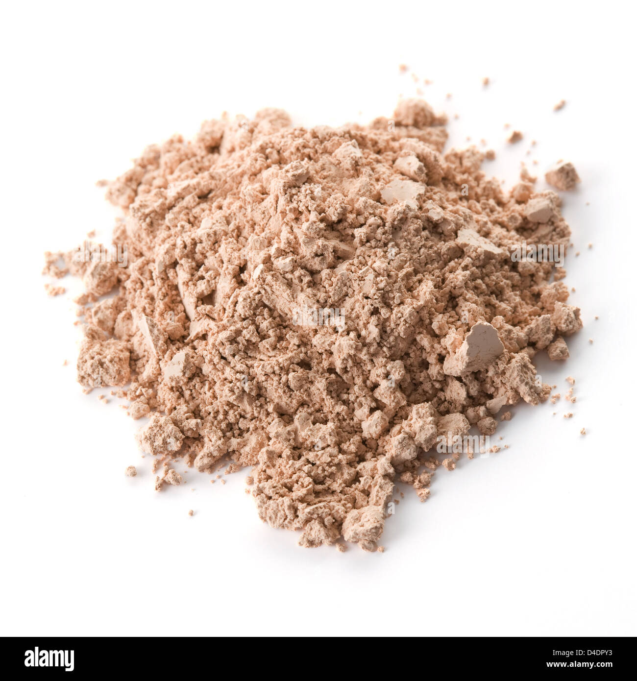 Cosmetic powder isolated on white background - Stock Image
