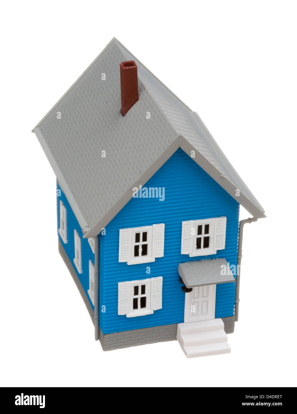 Model house isolated on white background - Stock Image