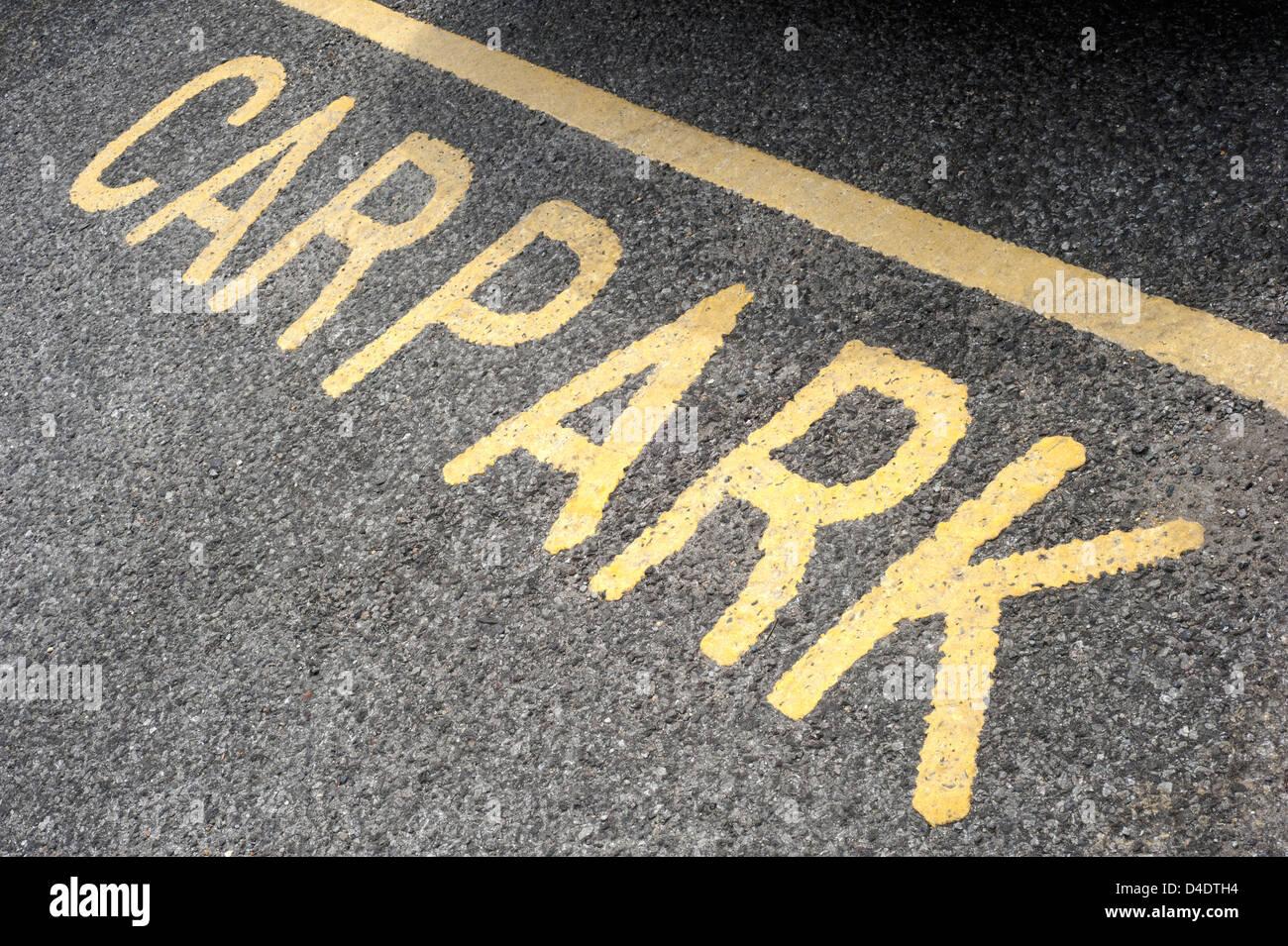 Car park marking sign, UK - Stock Image