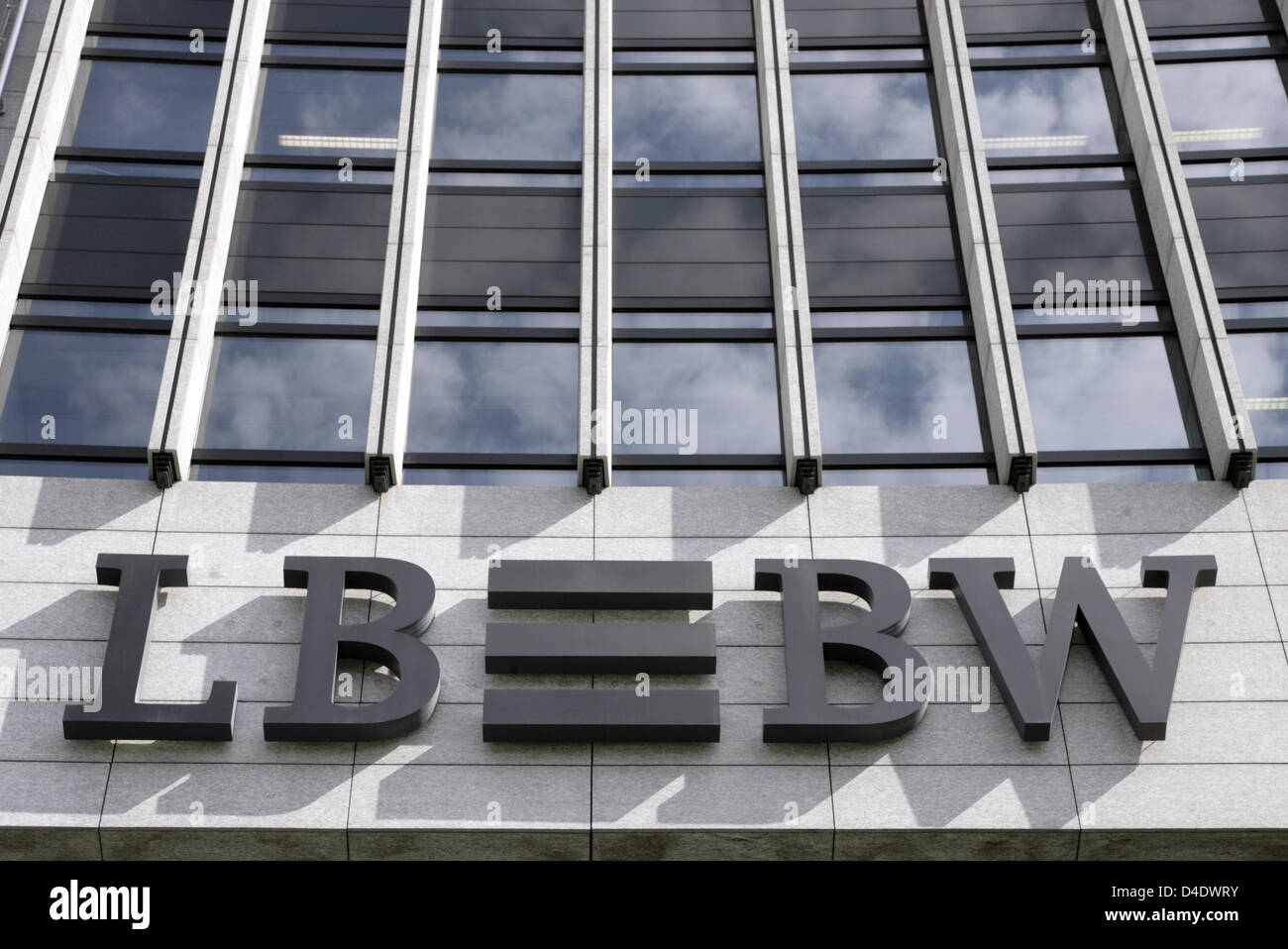 The logo of LBBW (Federal State Bank of Baden-Wuerttemberg) seen at the bank's headquarters in Stuttgart, Germany, - Stock Image