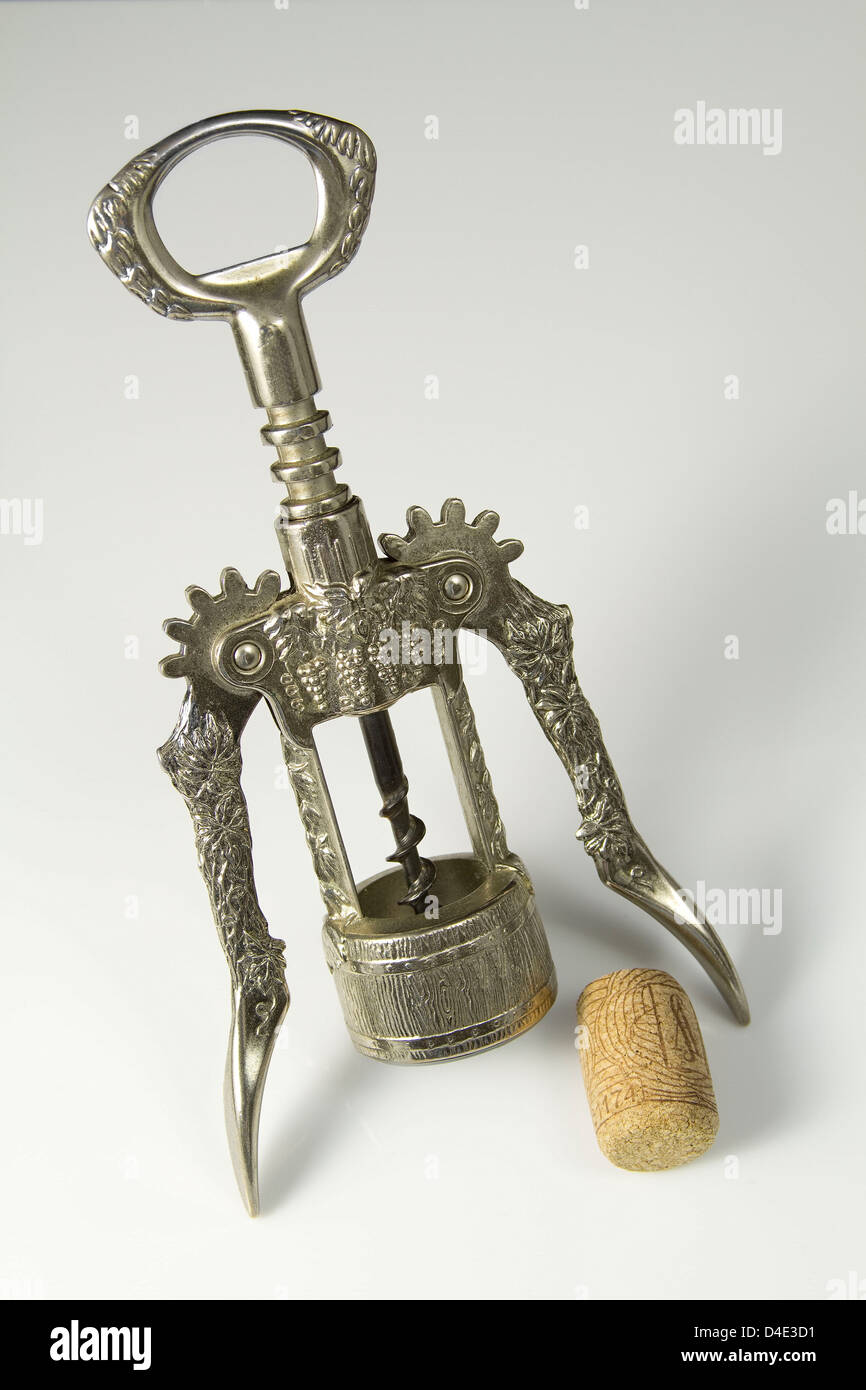 Classic Chrome Corkscrew Stock Photo