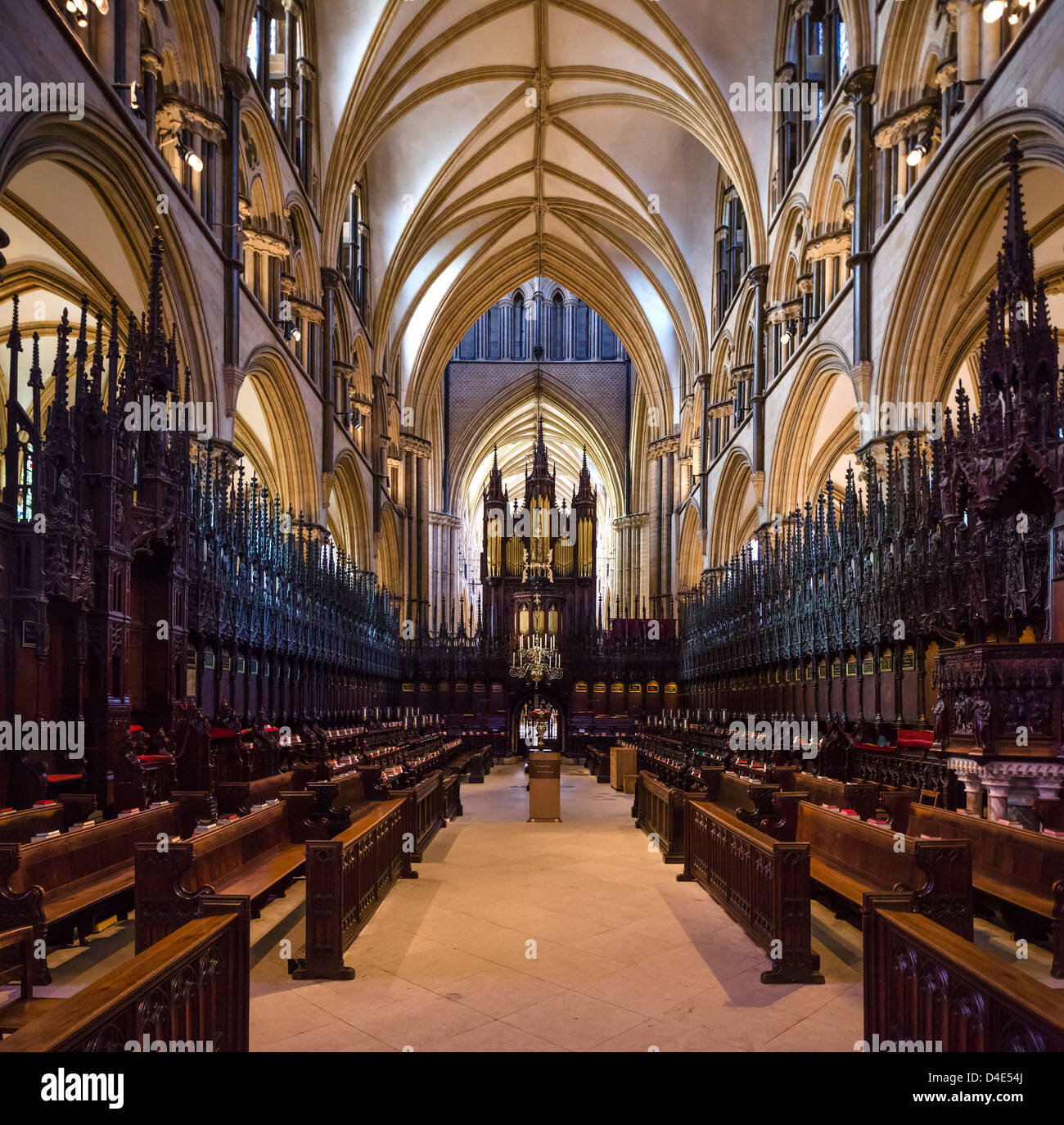 St Hugh's Choir in Lincoln Cathedral, Lincoln, Lincolnshire, East Midlands, UK Stock Photo