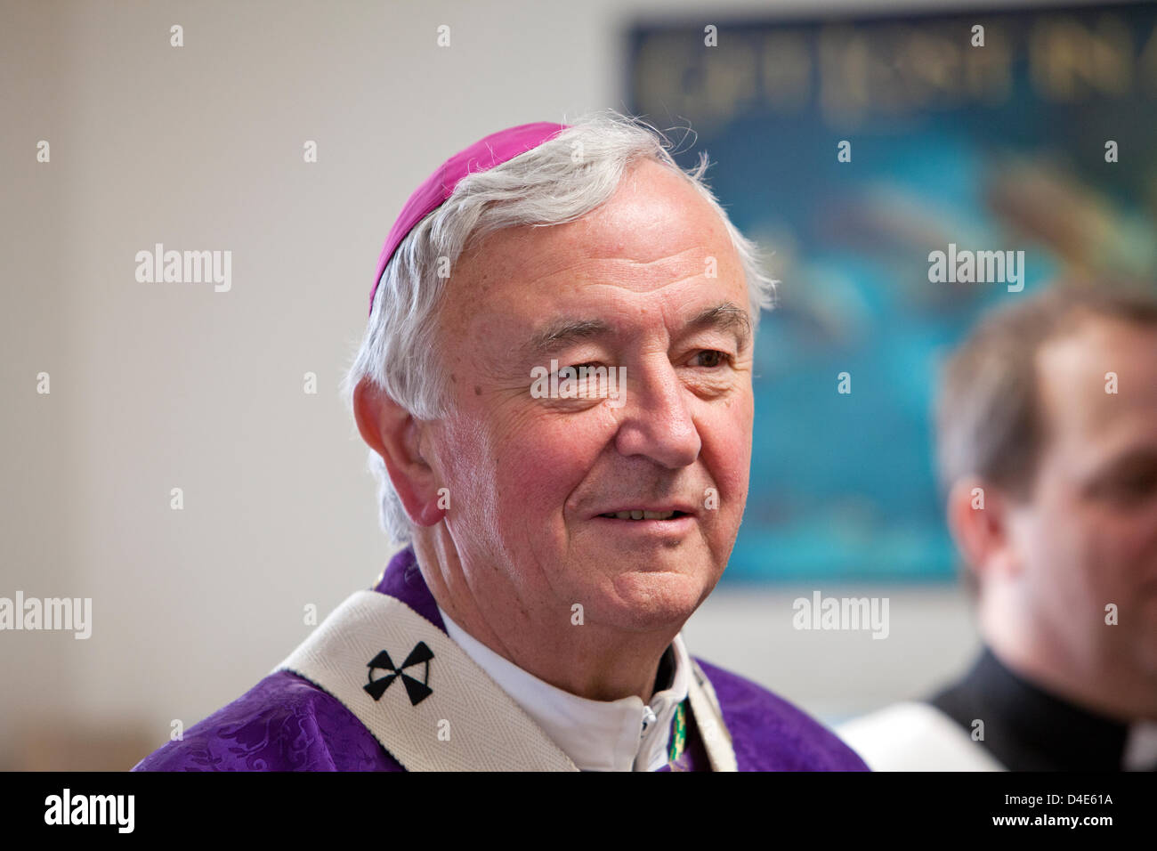 London, UK. March 12, 2013. Archbishop Vincent Nichols, the head of the Roman Catholic Church in England and Wales, - Stock Image