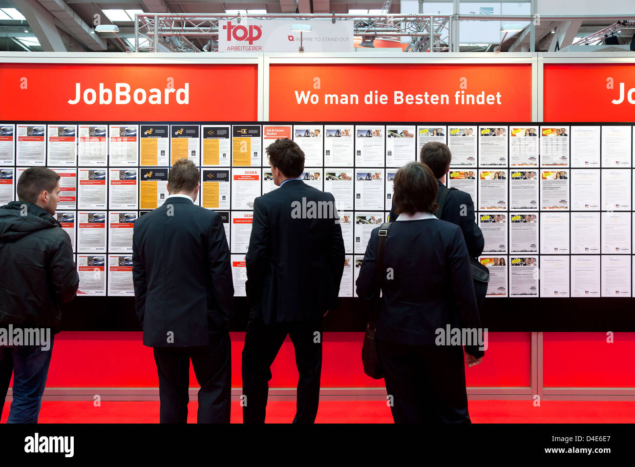 Hannover, Germany, Job Market at the industrial fair Hannover Stock Photo