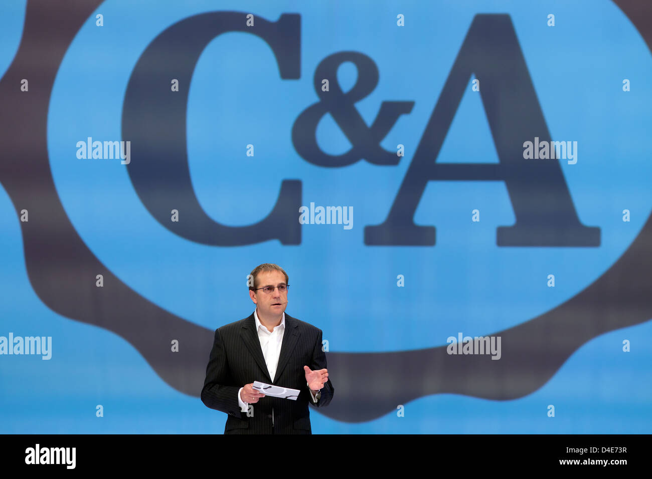 Duesseldorf, Germany, Andreas G. Seitz, spokesman for the european C & A Executive Board - Stock Image