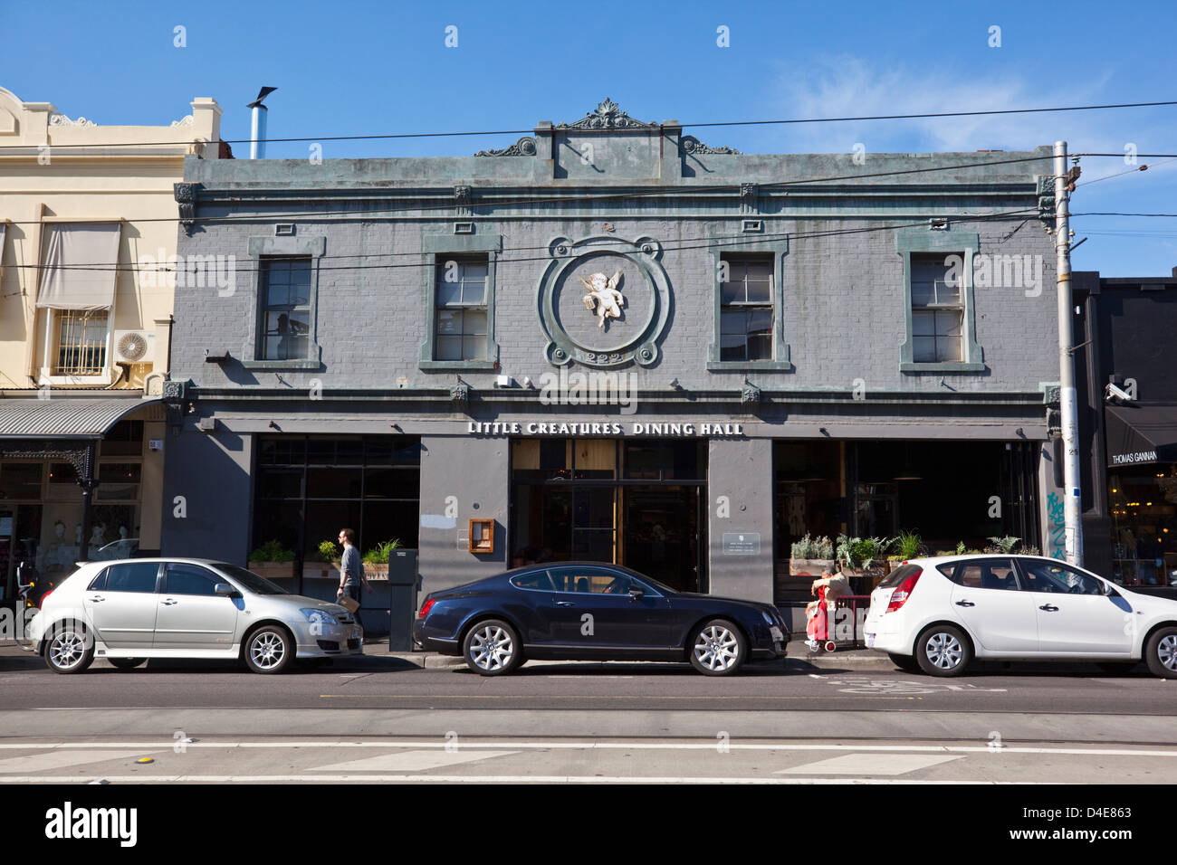 Little Creatures Dining Hall on Brunswick Street. Fitzroy, Melbourne, Victoria, Australia - Stock Image