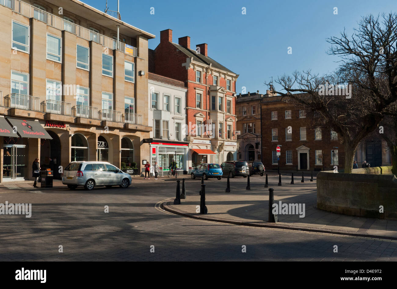 Wood Hill in Northampton Town Centre - Stock Image