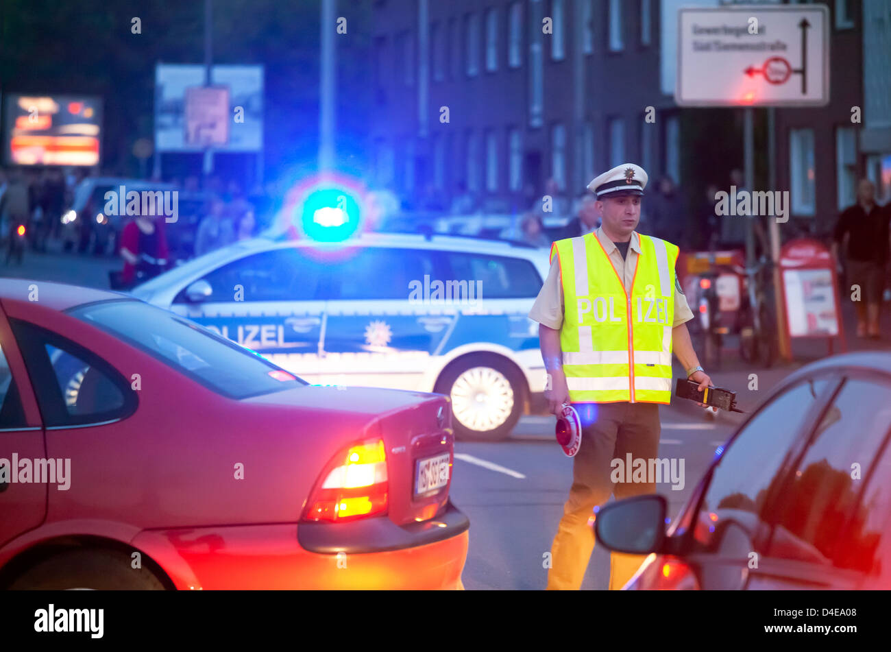Muenster, Germany, police used at football matches - Stock Image
