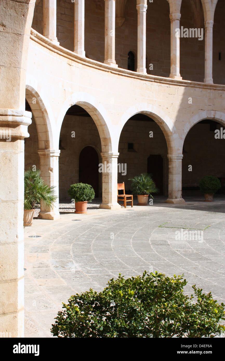Bellver castle in Majorca, Spain Stock Photo