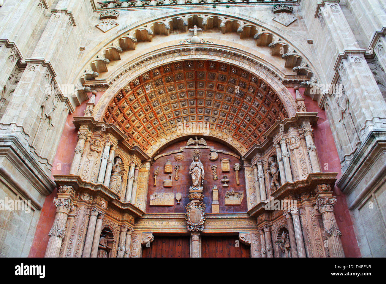 Church in Mallorca, Spain Stock Photo