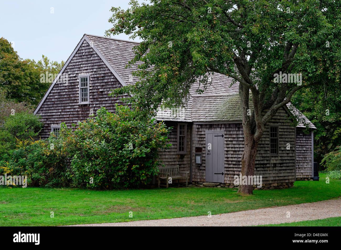 The Vincent House Museum, Edgartown, Martha's Vineyard, Massachusetts, USA - Stock Image